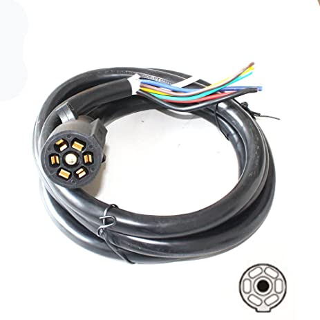 Amazon.com: X-Haibei 8ft Foot 7 Way Trailer Cord Wire Harness Light ...