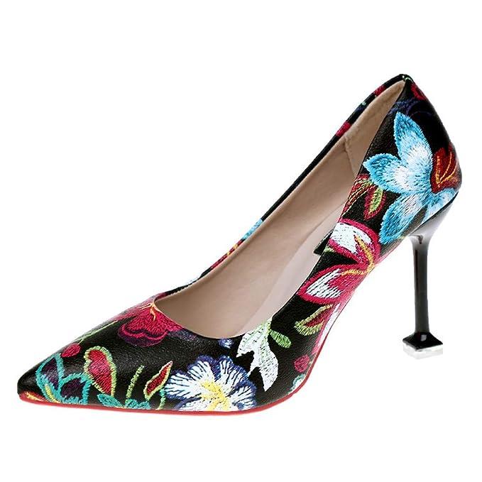 Amazon com: Sandals Heels for Women 2019 New Summer Print