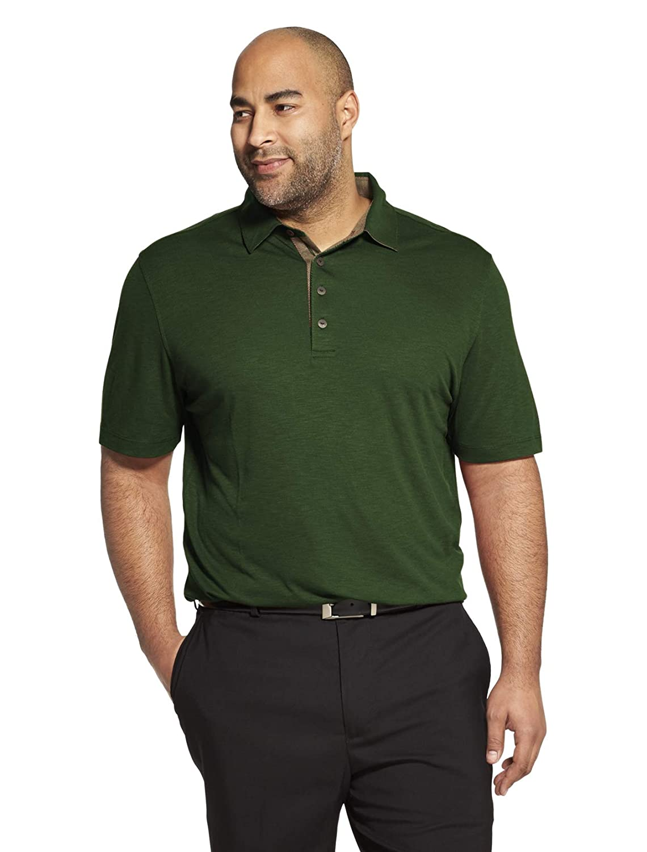 vert Deep Forest Taille 3XL Hauteur Van Heusen manche courte Air Perforhommece Solid Polo Shirt Homme