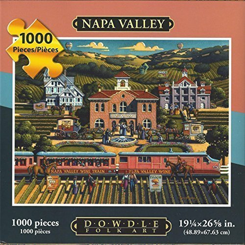 Dowdle Folk Art Puzzle Napa Valley Wine Country CA 1000 Pieces NEW 19 1/4x26 5/8 by Dowdle Folk Art