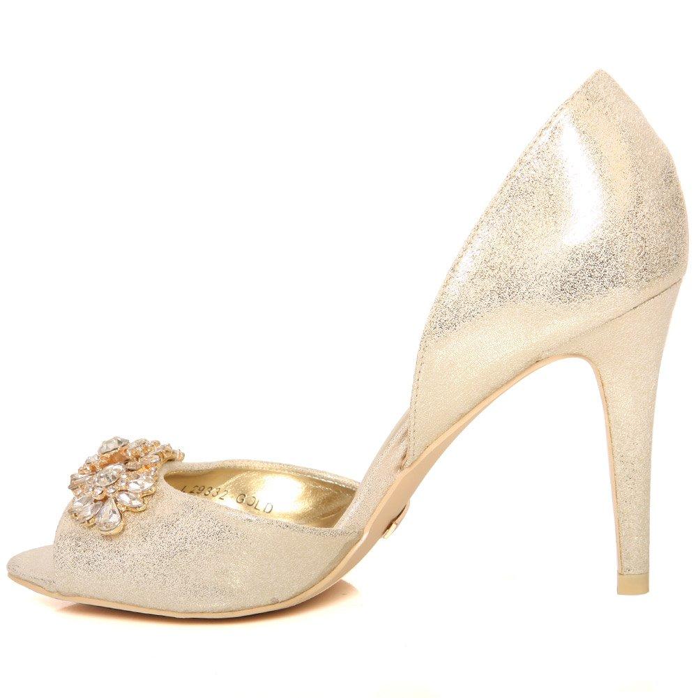 d3958c1ee903 Unze New Women  Zoe  Satin d Orsay Sleek Heel Party
