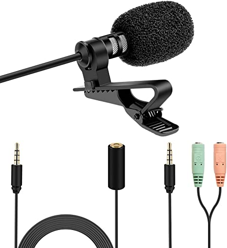 K&F Concept Kit Micrófono de Solapa Omnidireccional con Interfaz ...