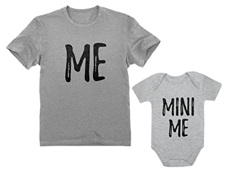 42f34010 Dad and Son Matching Matching T-Shirt & Bodysuit Funny Me & Mini Me Matching