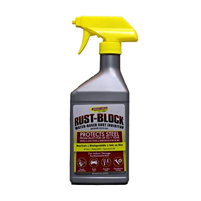 Rust-Block by Evapo-Rust, Keeps Metal Rust Free for up to 12 Months when Stored Inside, 16oz: Automotive