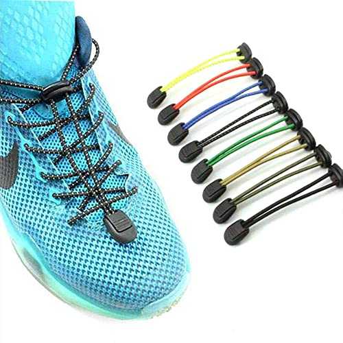 No Tie Shoelaces Elastic Laces Lock for Kids Adults Trainers Running Triathlon G