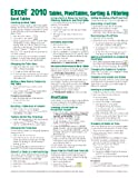 img - for Microsoft Excel 2010 Tables, PivotTables, Sorting & Filtering Quick Reference Guide (Cheat Sheet of Instructions, Tips & Shortcuts - Laminated Card) book / textbook / text book