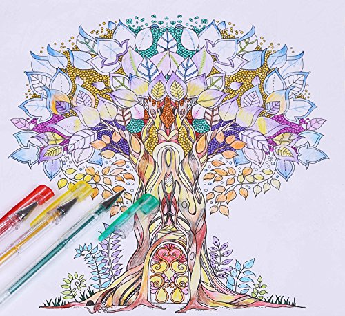 Shuttle art 40 colors glitter gel pens glitter gel pen set Coloring books for adults on amazon