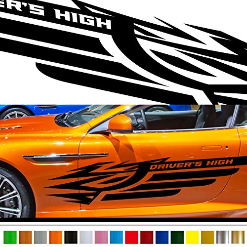 Wing Tribal car Sticker car vinyl side graphics 181/car vinylgraphic/Custom Stickers/decals 【8 Colors To Choose From】 JAPAN QUALITY Fast and Furious Lightning Car styling ()