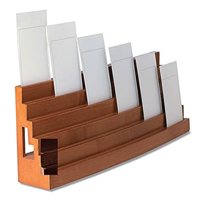 Amazon levenger wooden note card bleachers organizer business levenger wooden note card bleachers organizer business card holder ad8740 ch reheart Images