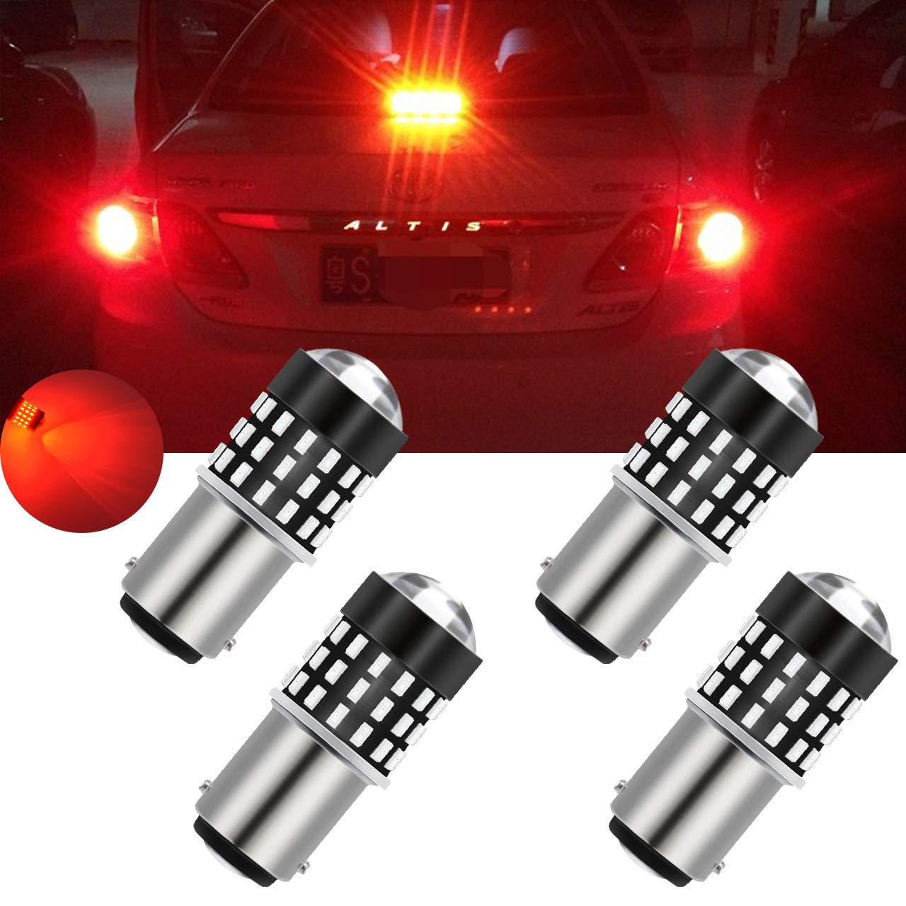 TUINCYN 7443 7440 T20 992 7444NA LED Bulbs White Super Bright 3014 54-EX Chipsets Backup Reverse Light, Parking Light, Daytime Running Light, Rear Trun Signals Light, Tail Light(2-Pack)