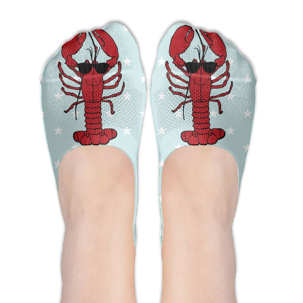 Cool Lobster With Sunglasses Women No-Show Socks Funny Novelty Low Cut Liner Socks