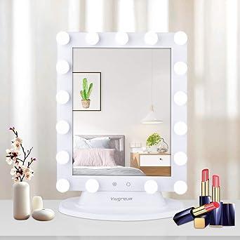 Spiegel Für Schminktisch Mit Beleuchtung | Hollywood Spiegel Dimmbar Schminkspiegel Mit Beleuchtung Schick