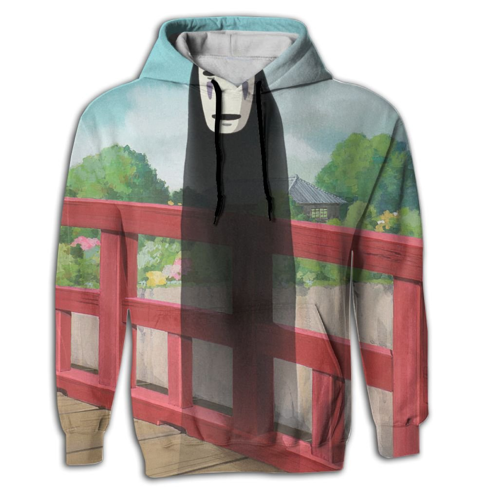 Studio Ghibli Spirited Away Unisex Sweater Shirt Full 3D Sublimation Casual Hoodie With Pocket White SATANPP
