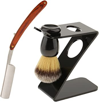 sharplace 3 in 1 salón profesional Barber Afeitado Brocha Juego ...