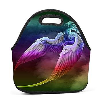 Amazon.com: Olibagg - Bolsa de almuerzo con diseño de dragón ...