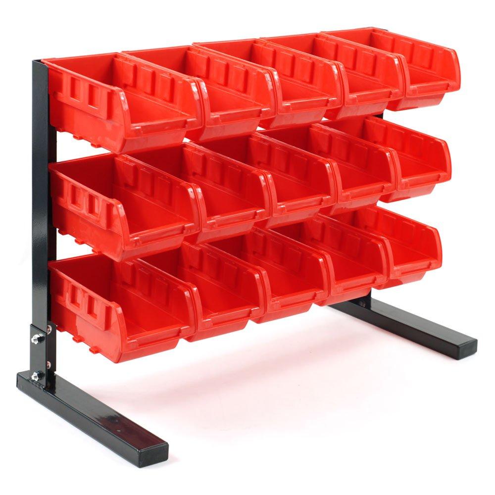 Stalwart 75-5186 Bench Top Parts Rack, 15 Piece