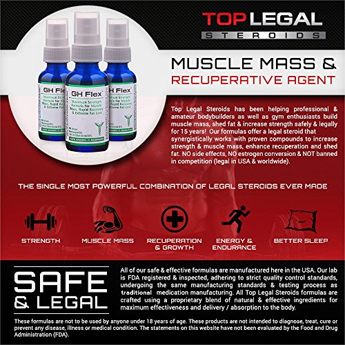 G H Flex - Natural Muscle Mass & Recuperative Agent By Top Legal Steroids & Muscle Stacks | 3-Month Stack Supply | Rapid Recovery, Muscle Mass & Stamina | Bodybuilding Supplements by Safe Anabolic Sciences (Image #2)
