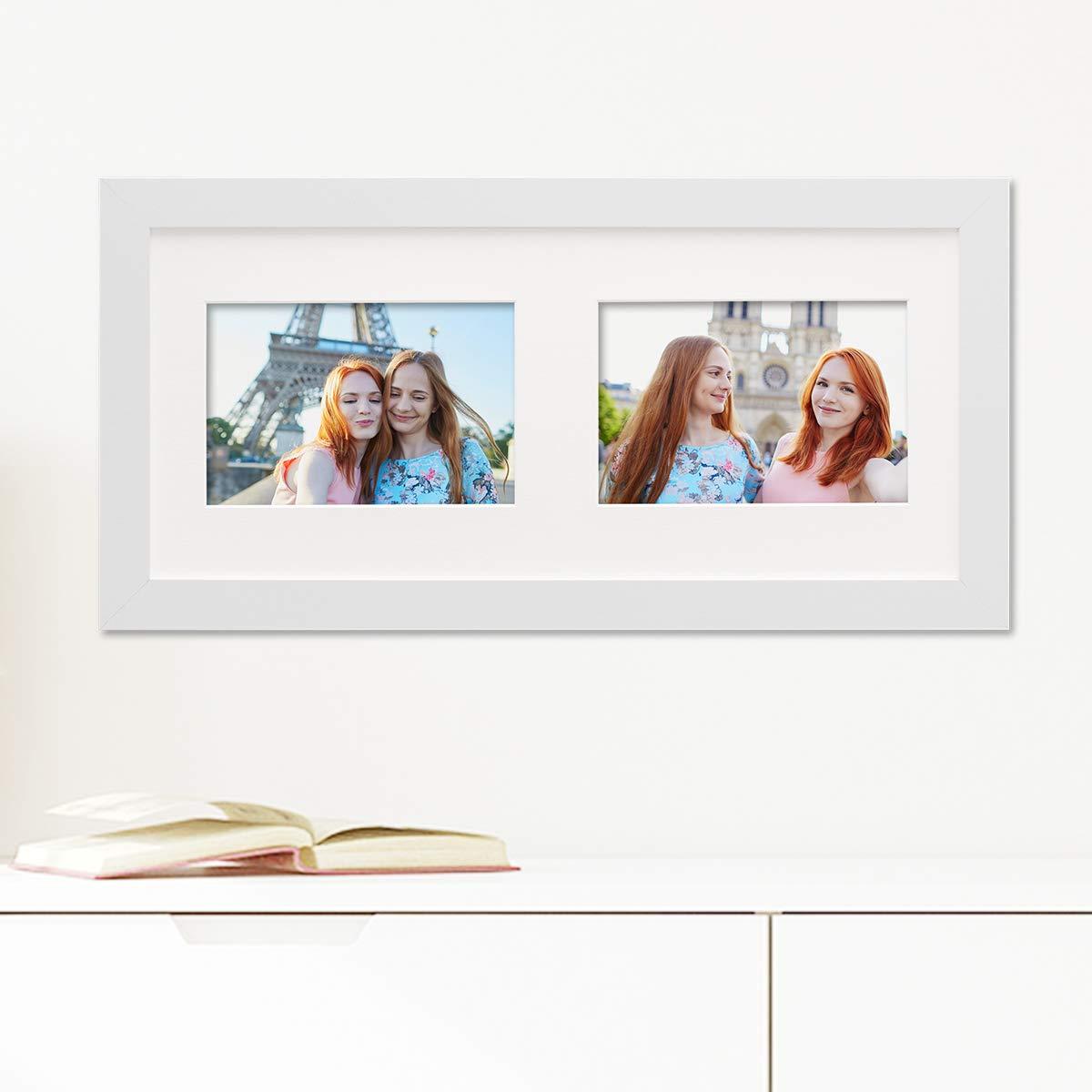 Amazon.de: PHOTOLINI Fotocollage-Bilderrahmen Modern Weiss aus MDF ...