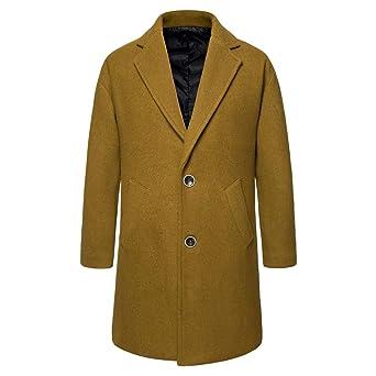 código promocional 910e1 6c807 Longra Invierno Otoño Paño Hombre Gabardina Casual Moda ...