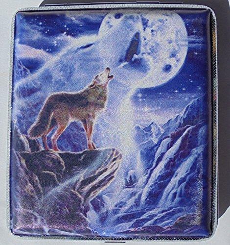 Metal Cigarette Case Wolf Design
