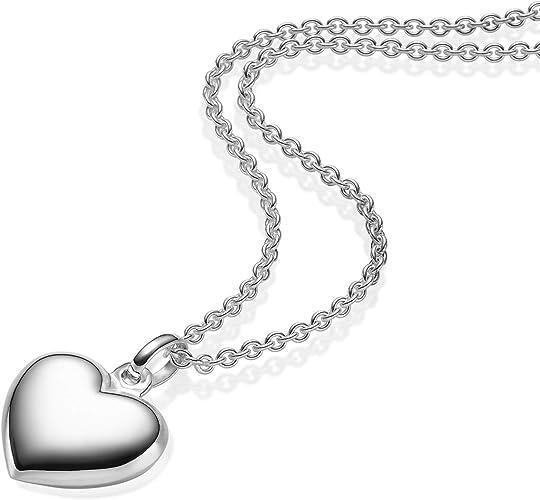 Amoonic Herzkette Silber 925 Kette Damen Herz *Etui mit Ich 'Herz' Dich Gravur* Geschenke für Frauen Schmuck Freundin Halsketten Silberkette
