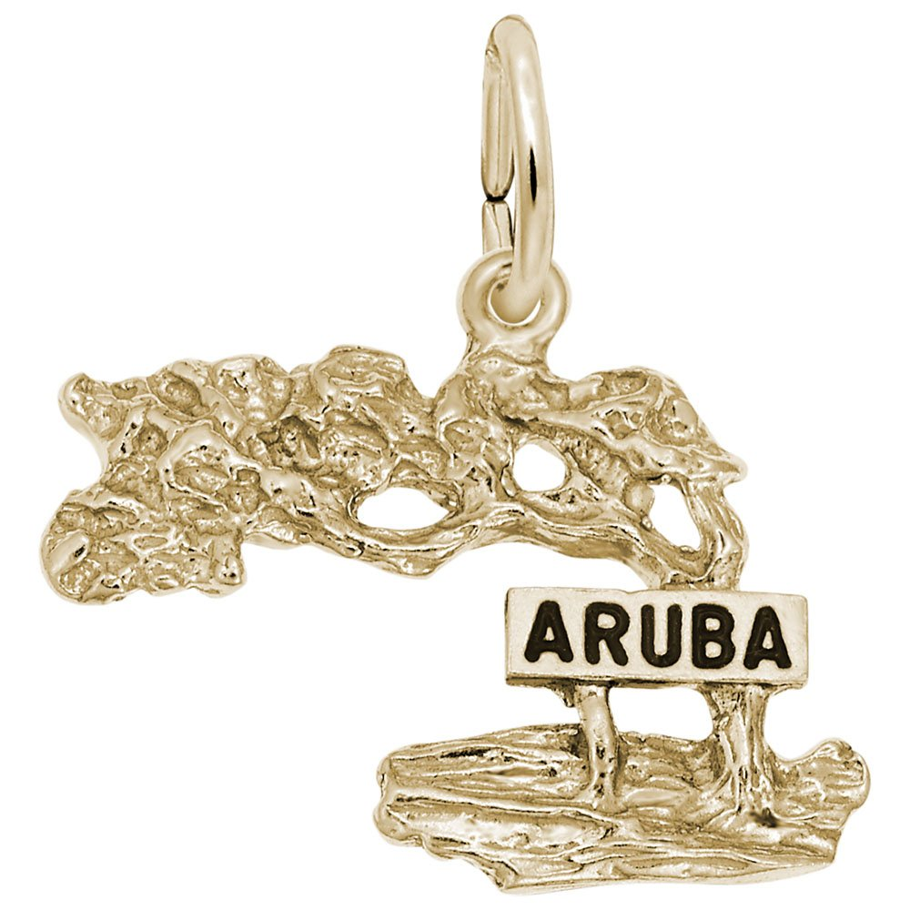 10k Yellow Gold Aruba Charm, Charms for Bracelets and Necklaces