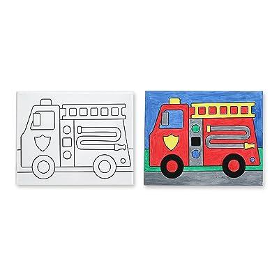 Melissa & Doug Canvas Creations - Fire Truck: Melissa & Doug: Toys & Games