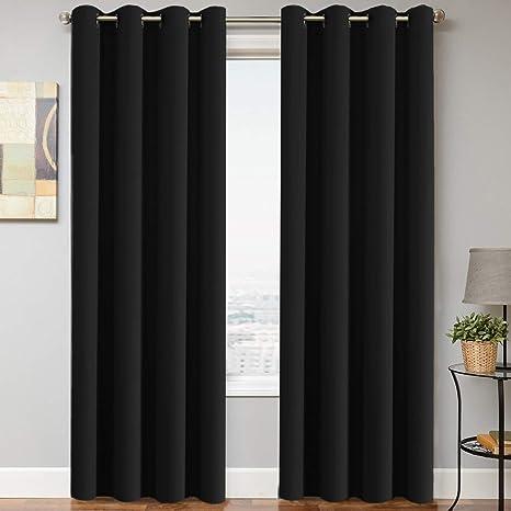 "100/% Blackout Panels Heavy Thick Grommet Window Curtain 1 Set Many Colors 84/""L"