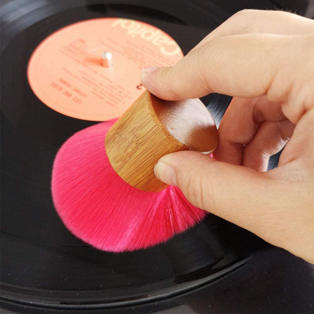 Record Cleaning Brush Anti-Static Soft Record Cleaner for LP Vinyl Record