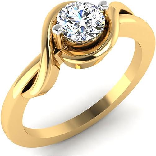 18k Gold Rings Natural Diamond Rings Solitaire Wedding Rings