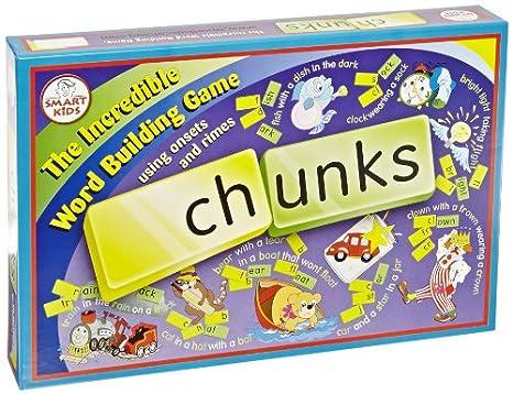 Amazon.com: Didax Chunks The Incredible Word Building Game - Set ...