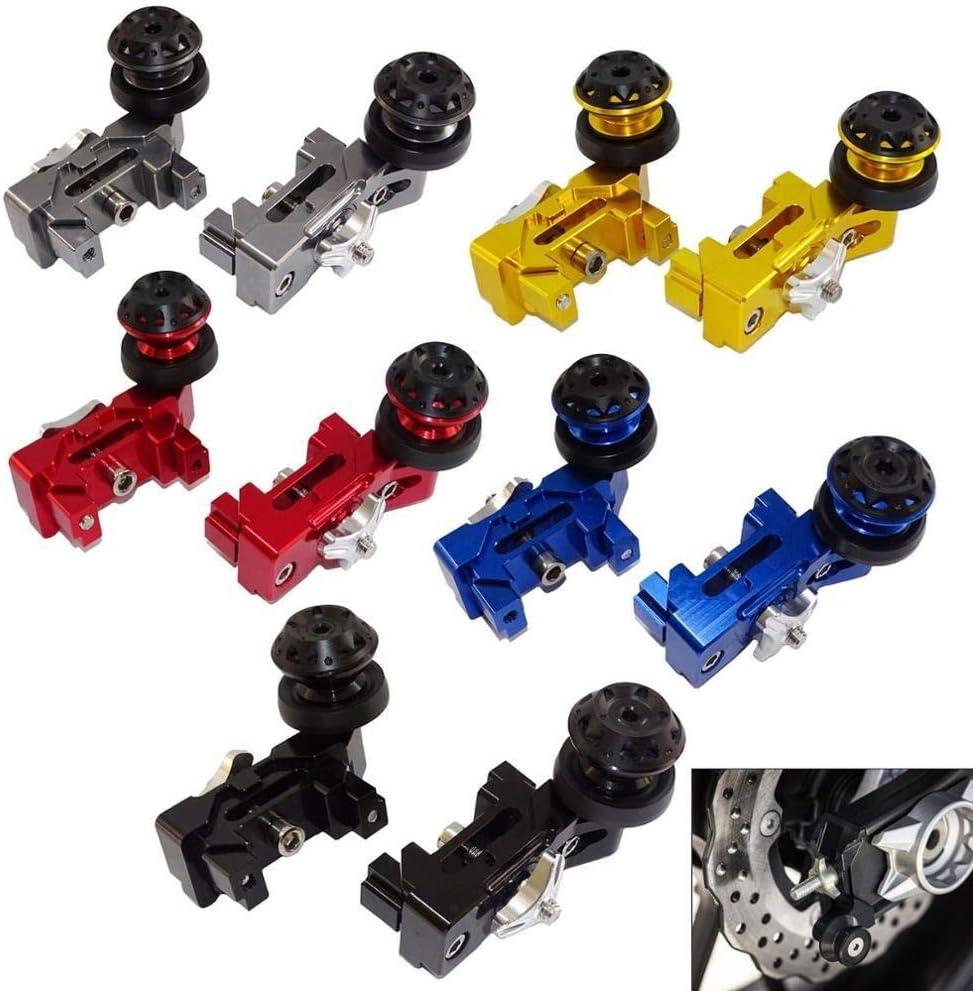 Color : Black R/égleur cha/îne de roue arri/ère avec bras oscillant Tendeur Bobines Sliders for YAMAHA FZ07 MT-07 XSR700 2014 2015 2016 2017 2018 2019 2020