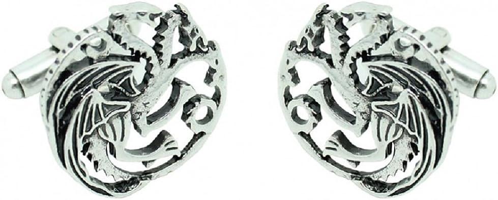Casa de Targaryen dragón Gemelos juego de tronos: Amazon.es: Joyería