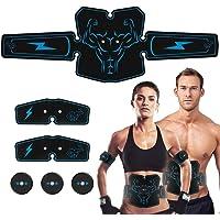 Haofy Electroestimulador Muscular Abdominales Cinturón EMS Eléctrico Estimulador AbS Masajeador para Hombres Mujeres y Culturistas
