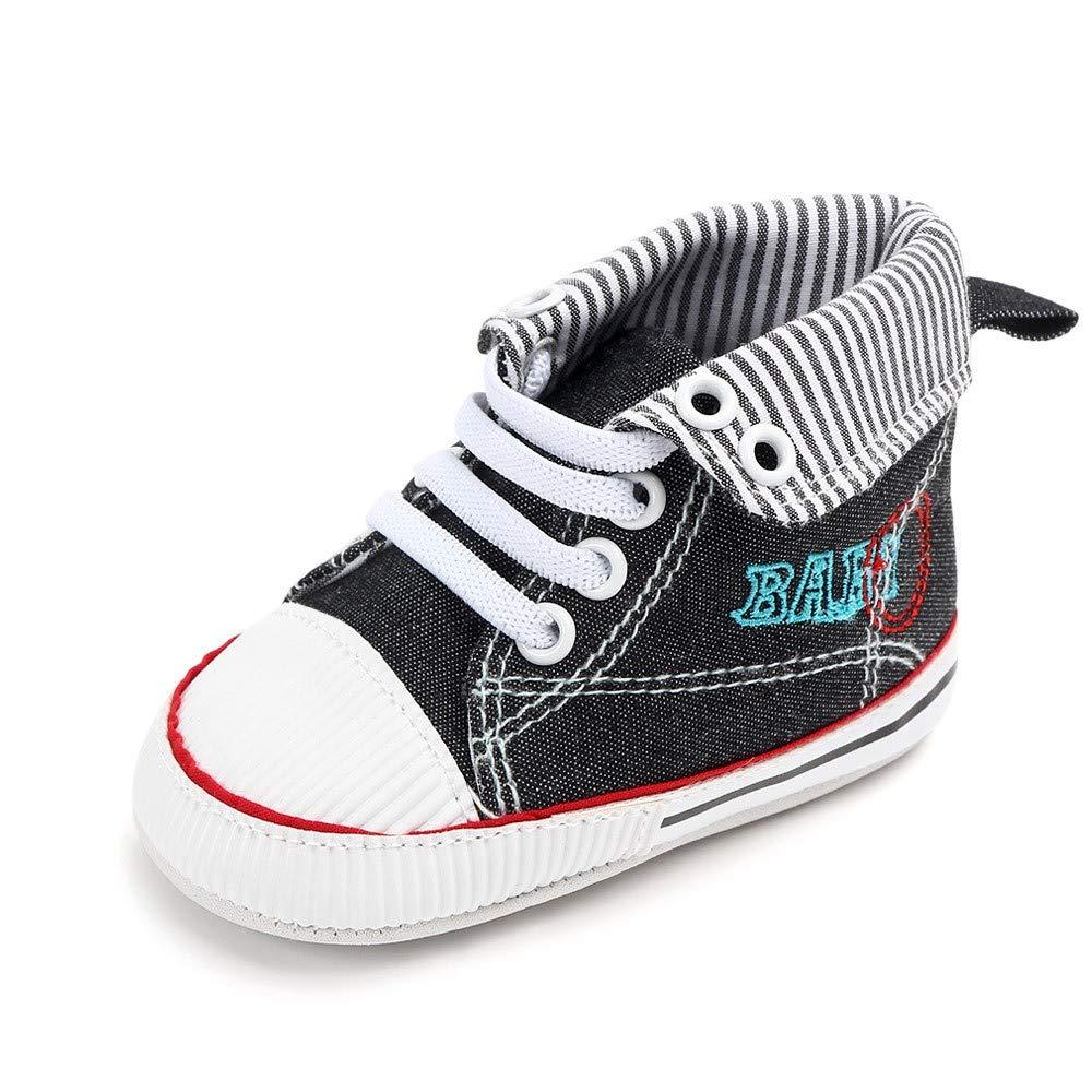 Baby Girls Canvas Shoes Newborn Toddler Baby Soft Sole Anti-Slip Prewalker High Top Sneaker