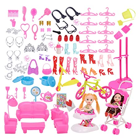 YeahiBaby Marco 108 pcs Barbie Doll Accesorios Zapatos ...