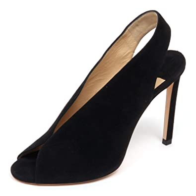 2aa1008cbc3 Jimmy Choo F0866 Sandalo Donna Black SHAR Scarpe Suede Shoe Woman  36