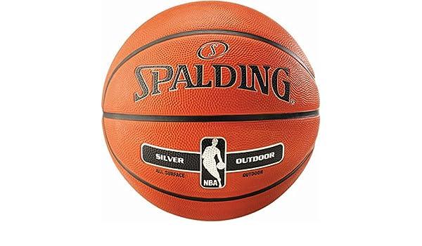 18 X Spalding NBA Silver Outdoor (Talla 7) - Balón de baloncesto ...