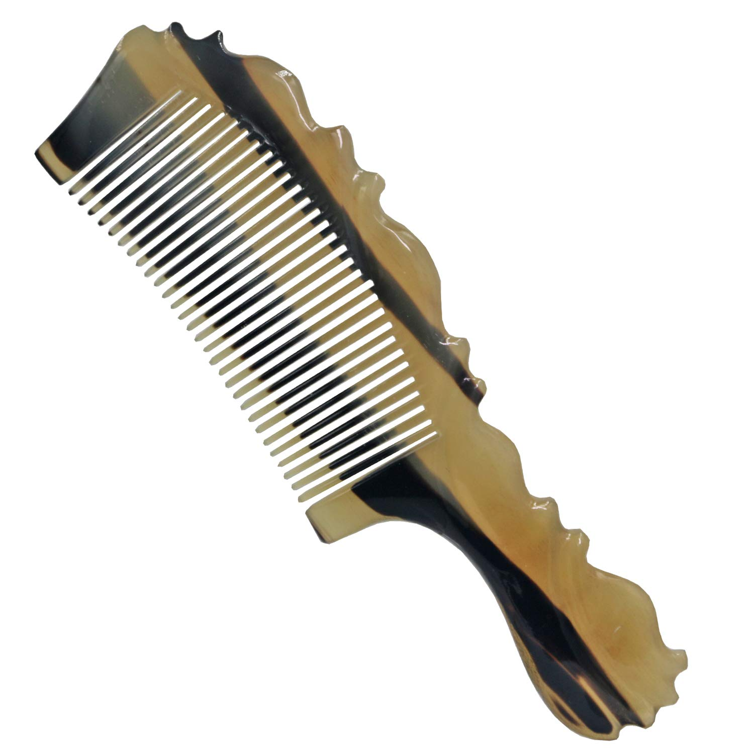 Fine Tooth Comb-100% Handmade Premium Quality Natural Sheep Horn Comb by Honglays