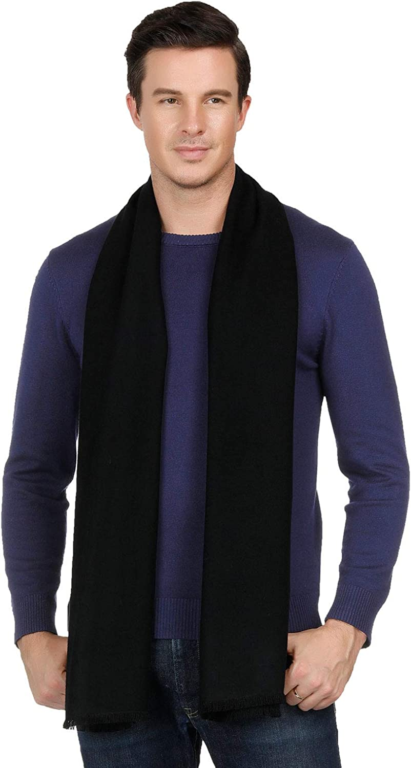 Coloris Edition Mens Winter Scarf 100% Pure Cashmere Fashion Scarf for Men  Boys Long Soft Warm Men Scarf for Christmas Gift at Amazon Men's Clothing  store