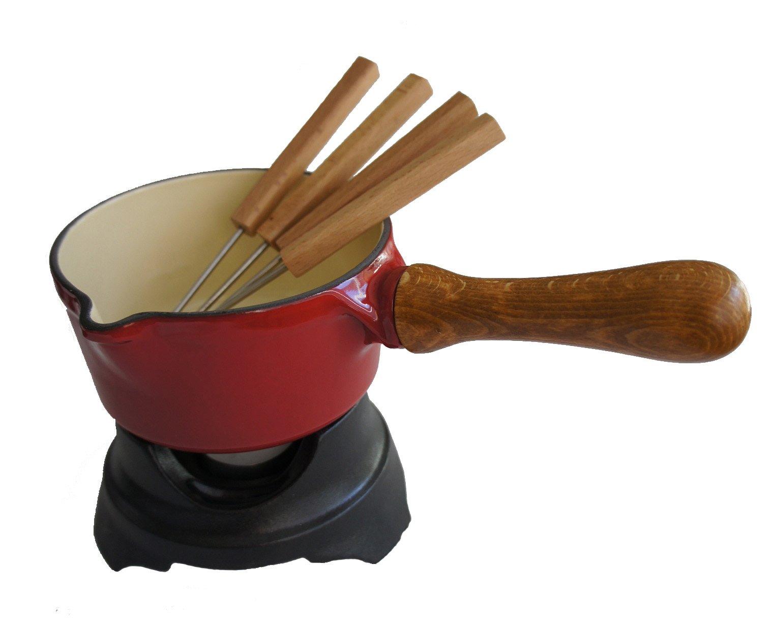 Paderno World Cuisine Red/Black Butter Warmer