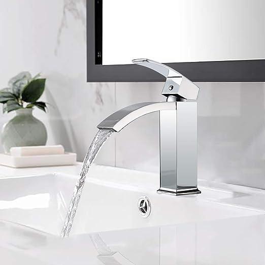 BONADE Elegante Waschtischarmaturen Wasserhahn Wasserfall ...