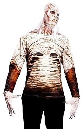Yiija Fast Fun - Disfraz camiseta Walker, para adultos, talla S, color blanco