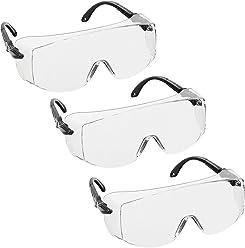 voltX Retro Compact OVERGLASSES avec /étui lentille Transparente Petite//Moyenne Taille s/écurit/é Industrielle Overspecs-CE EN166ft certifi/é voltX Retro Compact OVERGLASSES avec /étui