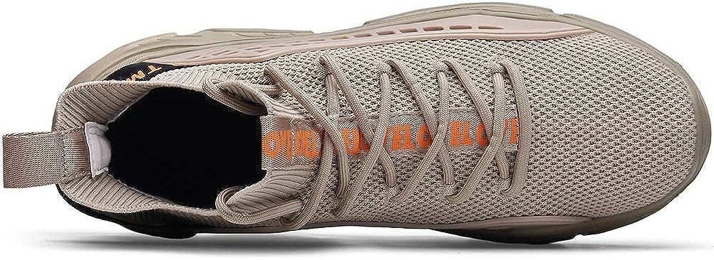 XIDISO Hombre Zapatillas Moda High-Top Sneaker Casuales con Cordones Correr Zapatos Caminar al Aire Libre Entrenadores: Amazon.es: Zapatos y complementos