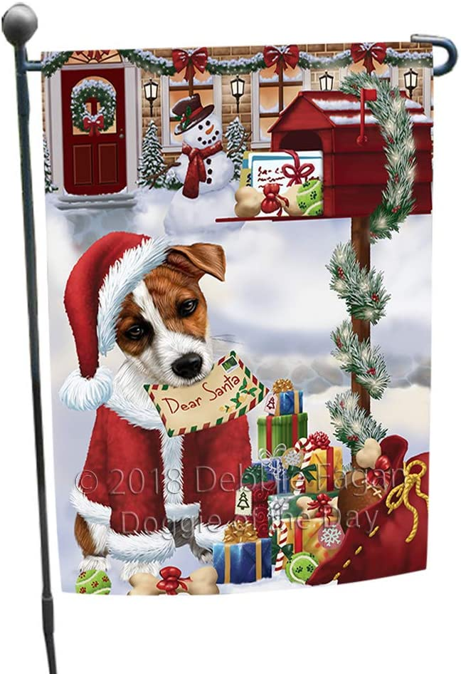 Jack Russell Terrier Dog Dear Santa Letter Christmas Holiday Mailbox Garden Flag GFLG53967