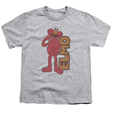 72929a613 Amazon.com: Sesame Street Vintage Elmo Toddler T Shirt & Stickers ...