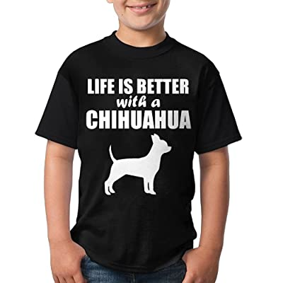 Life Is Better With A Chihuahua-1 Big Kid's (Youth) Short Sleeve Tshirts
