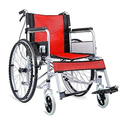 Comodidad De La Silla De Ruedas Ligero Transporte Ligero Plegable Silla De Viaje Portátil Ancianos Discapacitados