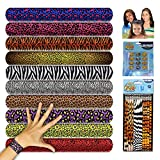 Kids Animal Print Slap Bracelets Mega Kit - ( 60 Pack)